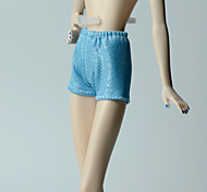 Недорогие -Брюки Шорты, брюки и колготки Для Кукла Барби Светло-синий Стреч-сатин Брюки Для Девичий игрушки куклы