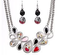 cheap -Women's Cubic Zirconia Zircon Jewelry Set 1 Necklace Earrings - Classic Fashion Drop Drop Earrings Necklace For Ceremony Festival