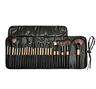 cheap -24pcs Foundation Brush Powder Brush Eyelash Brush Eyelash Comb (Flat) Eyeliner Brush Lip Brush Eyeshadow Brush Blush Brush Makeup Brush
