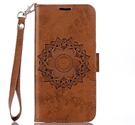 cheap -Case For Motorola MOTO G4 Plus Card Holder Wallet with Stand Flip Embossed Full Body Cases Mandala Hard PU Leather for Moto G4 Plus MOTO