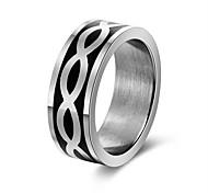 Недорогие -Муж. Жен. Классические кольца Подарок Рок Нержавеющая сталь Волны Бижутерия Для вечеринок Бар