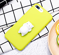 cheap -Case For Apple iPhone 7 Plus iPhone 7 Squishy DIY Back Cover Cat 3D Cartoon Soft Silicone for iPhone 8 Plus iPhone 8 iPhone 7 Plus iPhone