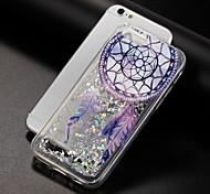 baratos -Capinha Para Apple iPhone X iPhone 8 Liquido Flutuante Estampada Capa traseira Glitter Brilhante Apanhador de Sonhos Macia TPU para