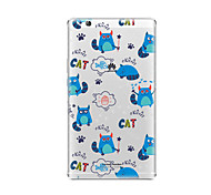 cheap -Case For Huawei Huawei MediaPad T3 8.0 Transparent Pattern Back Cover Cat Soft TPU for