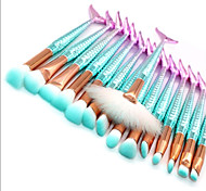 cheap -15pcs Powder Brush Lip Brush Eyeshadow Brush Others Synthetic Hair Nylon Eco-friendly Professional Soft Synthetic Full Coverage Plastic