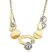 cheap -Women's Cubic Zirconia Imitation Diamond Pendant Necklace - Classic Fashion Irregular Gold Silver Necklace For Daily