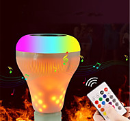 cheap -1set 18W 700lm E27 LED Smart Bulbs 18 LED Beads Bluetooth Dimmable Flame Effect Remote-Controlled LED Light Warm White RGB+White 100-240V