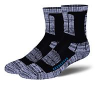 Недорогие -Спортивные носки Велоспорт Носки Муж. Йога Бег Велосипедный спорт Пешеходный туризм Восхождение Сохраняет тепло Анатомический дизайн