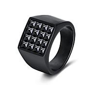 Недорогие -Муж. Жен. Классические кольца На каждый день Cool Нержавеющая сталь Геометрической формы Бижутерия Подарок Карнавал
