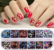 Недорогие -Гель для ногтей Пайетки Аксессуары Классика Глянцевые Высокое качество Повседневные Дизайн ногтей