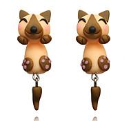 cheap -Women's Lovely Fox Front Back Earrings - Fashion / European Yellow Earrings For Daily / Street