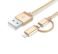 cheap -Lightning USB Cable Adapter Braided Quick Charge Cable For iPhone 150 cm Nylon