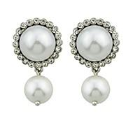 cheap -Women's Drop Earrings , Rhinestone Imitation Pearl Casual Fashion Alloy Circle Flower Jewelry Daily Date Costume Jewelry