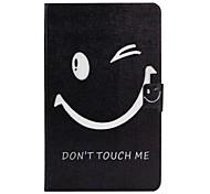 Недорогие -Кейс для Назначение SSamsung Galaxy Tab A 10.1 (2016) Бумажник для карт со стендом Флип С узором Авто Режим сна / Пробуждение Чехол Слова