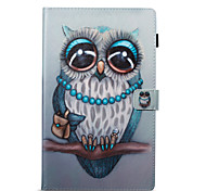 cheap -Case For Amazon Card Holder Wallet with Stand Pattern Auto Sleep/Wake Up Full Body Cases Owl Hard PU Leather for Kindle Fire hd 10(7th