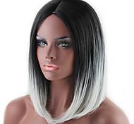 Недорогие -Парики из искусственных волос Прямой Стрижка боб плотность Без шапочки-основы Жен. Серый Карнавальный парик Парик для Хэллоуина Средние