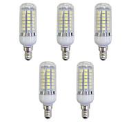 cheap -5pcs 5W 420 lm E12/E14 LED Corn Lights 48 leds SMD 5050 LED Light White AC 220-240V