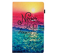 cheap -Case For Amazon Wallet with Stand Flip Pattern Auto Sleep/Wake Up Full Body Cases Word / Phrase Hard PU Leather for Kindle Fire hd 10(7th