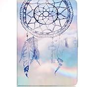 Недорогие -Кейс для Назначение SSamsung Galaxy Tab A 9.7 Бумажник для карт Кошелек со стендом С узором Авто Режим сна / Пробуждение Чехол Ловец снов