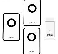 Недорогие -Дзынь-дзынь Музыка От одного до трех дверных звонков Регулируемый звук Беспроводное дверной звонок 120 Крепеж на поверхности