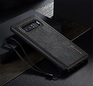 Недорогие -Кейс для Назначение SSamsung Galaxy Note 8 Защита от удара Ультратонкий Своими руками Кейс на заднюю панель Сплошной цвет Твердый Кожа PU