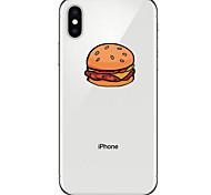 Недорогие -Кейс для Назначение Apple iPhone X iPhone 8 Прозрачный С узором Кейс на заднюю панель Продукты питания Мягкий ТПУ для iPhone X iPhone 8