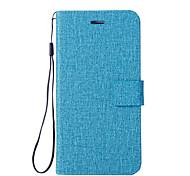 Недорогие -Кейс для Назначение Motorola G5 G5 Plus Бумажник для карт Кошелек со стендом Флип Чехол Сплошной цвет Твердый Кожа PU для Мото G5 Plus