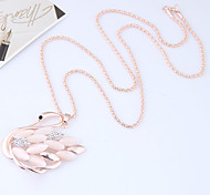 cheap -Women's Rhinestone Pendant Necklace - Animals Fashion European Swan Gold Necklace For Causal