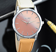 cheap -Women's Quartz Chinese Casual Watch Color Gradient Leather Band Colorful Fashion Black White Blue Pink Yellow Rose Sky Blue