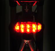 abordables -Luz Trasera para Bicicleta LED LED Ciclismo Ajustable Impermeable Soltado Rápido Fácil de Transportar AA 15lm Lumens Pilas AA alimentadas
