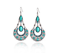 cheap -Women's Drop Earrings Synthetic Tanzanite Fashion Sweet Resin Alloy Geometric Drop Jewelry Gray Red Green Carnival Going out Costume