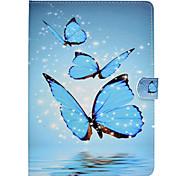 Недорогие -Кейс для Назначение SSamsung Galaxy Tab E 9.6 Tab A 9.7 Tab A 10.1 (2016) Бумажник для карт Защита от удара со стендом Флип Авто Режим