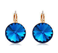 cheap -Women's Crystal Drop Earrings - Crystal, Gold Plated Classic, Elegant Dark Blue For Party / Evening / Daily