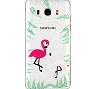 cheap -Case For Samsung Galaxy J5 (2017) J3 (2017) Translucent Pattern Back Cover Glitter Shine Cartoon Animal Soft TPU for J7 (2017) J7 (2016)