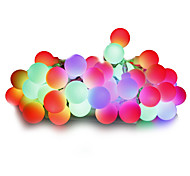 cheap -String Lights 100 LEDs Warm White White Multi Color Pink Yellow Blue Red Dimmable 220V 110-130V