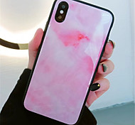 cheap -Case For Apple iPhone X / iPhone 7 Plus Pattern Back Cover Painting Hard Tempered Glass for iPhone X / iPhone 8 Plus / iPhone 8