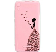 cheap -Case For Wiko U Feel Lite Robby Transparent Pattern Back Cover Sexy Lady Soft TPU for Wiko U Feel Lite Wiko U Feel Wiko Sunny Wiko Robby