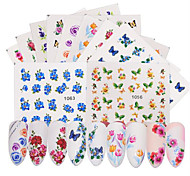 abordables -50pcs Autocollants & Scotch / Autocollant de transfert d'eau / Autocollant pour ongles Modèle d'estampage d'ongles Nail Art Design /