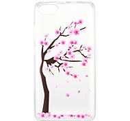 Недорогие -Кейс для Назначение Wiko U Feel Lite Pulp Fab 4G С узором Кейс на заднюю панель Цветы дерево Мягкий ТПУ для Wiko U Feel Lite Wiko U Feel
