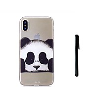 abordables -Coque Pour Apple iPhone X iPhone 8 Plus Translucide Coque Panda Animal Flexible TPU pour iPhone X iPhone 8 Plus iPhone 7 Plus iPhone 7