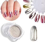 abordables -1 pcs Poudre de paillettes Effet miroir / Nail Glitter Nail Art Design