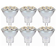 cheap -SENCART 6pcs 5W 160 lm MR11 LED Bi-pin Lights MR11 12 leds SMD 5060 Decorative Warm White White 12-24V