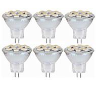 abordables -SENCART 6pcs 5W 160lm MR11 Luces LED de Doble Pin MR11 12 Cuentas LED SMD 5060 Decorativa Blanco Cálido Blanco 12-24V