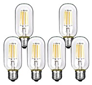 cheap -6pcs 4W 360lm E26 / E27 LED Filament Bulbs T45 4 LED Beads COB Decorative Warm White Cold White 220-240V