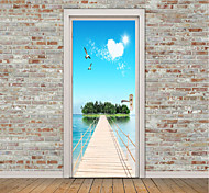 cheap -Landscape Still Life Wall Stickers Plane Wall Stickers 3D Wall Stickers Decorative Wall Stickers Photo Stickers Door Stickers, Vinyl Home