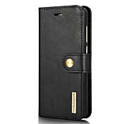 cheap -Case For Huawei P8 Lite (2017) Card Holder with Stand Flip Full Body Cases Solid Color Hard Genuine Leather for P8 Lite (2017)