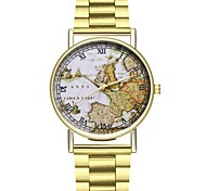 cheap -Men's Unique Creative Watch Fashion Watch Casual Watch Chinese Quartz Chronograph Large Dial Stainless Steel Band Travel Map World Map