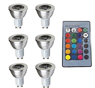 cheap -6pcs 3W 280 lm GU10 LED Spotlight 1 leds Dimmable Decorative Remote-Controlled RGB 200-240V