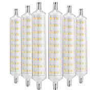 cheap -YWXLIGHT® 6pcs 12W 1000-1200lm R7S LED Corn Lights 108 LED Beads SMD 2835 Decorative Warm White 220-240V