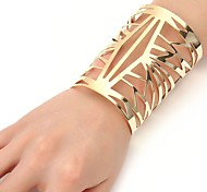 cheap -Women's Cool Oversized Cuff Bracelet - Oversized Fashion Geometric Gold Silver Bracelet For Ceremony Evening Party
